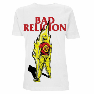 Moška majica Bad Religion - Boy He Fire - Bela, NNM, Bad Religion