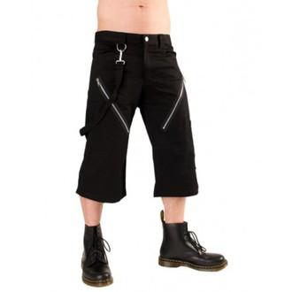 kratke hlače 3/4 moški Black Pistol - Zadrga Kratek Hlače Denim Črno, BLACK PISTOL