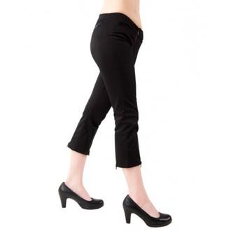 kratke hlače 3/4 ženske Black Pistol - Zadrga Slaki Denim Črno, BLACK PISTOL