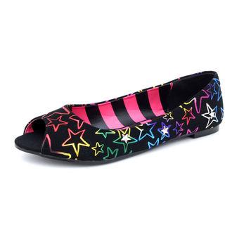 balerine ženske Avril Lavigne - Starstruck Peep Toe Flat - ABBEY DAWN, ABBEY DAWN, Avril Lavigne