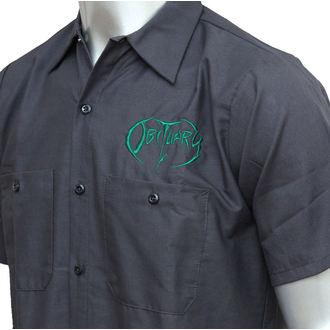 majica moški Obituary - EMB Logo - GRN / Oglje - JSR, Just Say Rock, Obituary