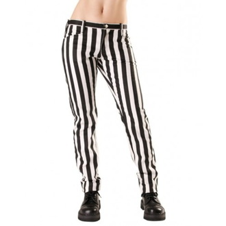 hlače ženske Black Pistol - Zapri Hlače Stripe Črno / bela, BLACK PISTOL