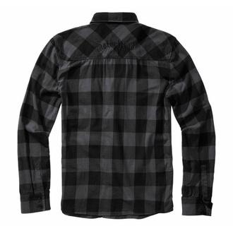 Moška srajca BRANDIT Motörhead Srajca s kockastim vzorcem 61005-black/grey Gingham, BRANDIT, Motörhead