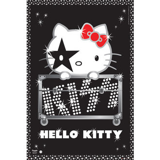 plakat Hello Kitty - Kiss Tour - Ne Nemčija - GB Plakati, HELLO KITTY, Kiss