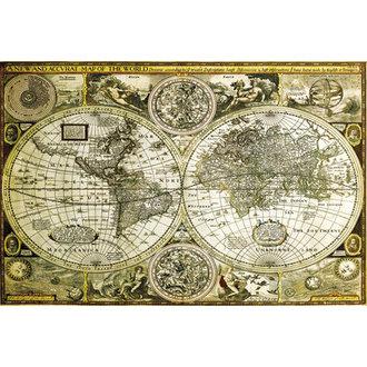 plakat Svet Zemljevid Zgodovinski - GB Posters, GB posters