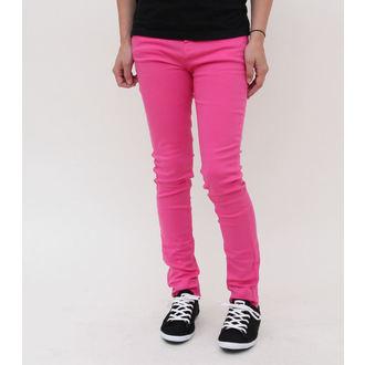 hlače ženske HELL BUNNY - Super Skinny - Pink, HELL BUNNY