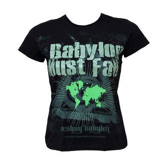 majica hardcore ženske - Babylon Must Fall - BLACK ICON, BLACK ICON