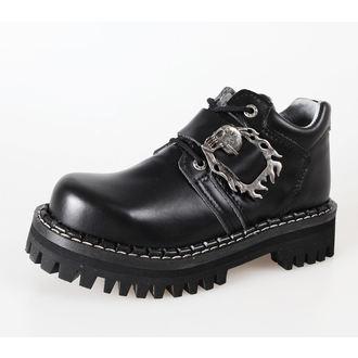 čevlji KMM 4 očesce - Big Skulls Black Full, KMM