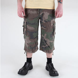 kratke hlače moški 3/4 MIL-TEC - Air Combat - Predpranje Woodland, MIL-TEC