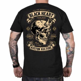 Moška majica BLACK HEART - DEVIL SKULL - ČRNA, BLACK HEART
