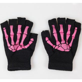 rokavice brez prstov POIZEN INDUSTRIES - BGS Gloves - Črno / Pink