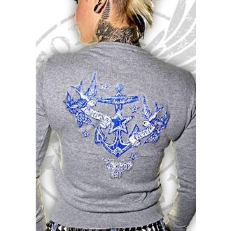 pulover ženske TOXICO - Never Say Never - Siva, TOXICO