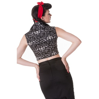 majica (telovnik) ženske HELL BUNNY - Bandana - Črno, HELL BUNNY