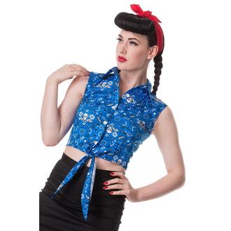 majica (telovnik) ženske HELL BUNNY - Bandana - Blu, HELL BUNNY