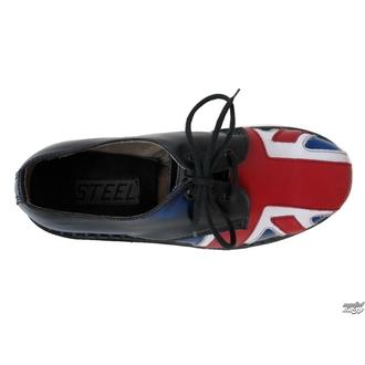 usnje čevlji ženske -, STEEL