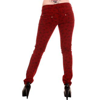 hlače ženske 3RDAND56th - Swallow Skinny Jeans - Vino, 3RDAND56th