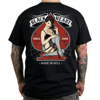 Moška ulična majica - MISS PIN UP - BLACK HEART, BLACK HEART