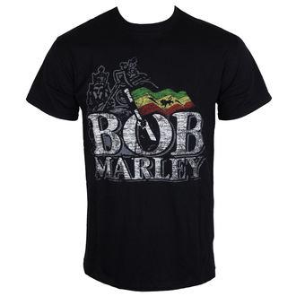 majica kovinski moški Bob Marley - Distressed Logo - BRAVADO EU, ROCK OFF, Bob Marley