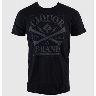 majica hardcore moški - Crossbones - LIQUOR BRAND, LIQUOR BRAND