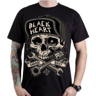 Moška ulična majica - GARAGE BUILT - BLACK HEART, BLACK HEART