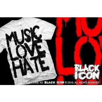 majica hardcore moški - Music, Love - BLACK ICON, BLACK ICON