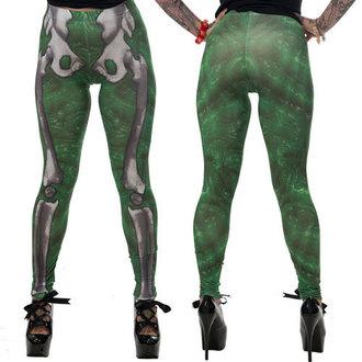hlače ženske (gleženj) KREEPSVILLE SIX SIX SIX - Skele-Bone - Slime, KREEPSVILLE SIX SIX SIX