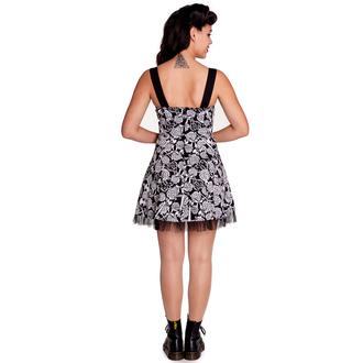 obleko ženske HELL BUNNY - Avalon Mini - Črno / bela, HELL BUNNY
