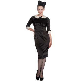 obleko ženske HELL BUNNY - Moneypenny - Črno / Slonokoščena, HELL BUNNY