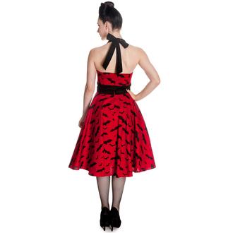 obleko ženske HELL BUNNY - Bat 50´s - rdeča / Črno, HELL BUNNY