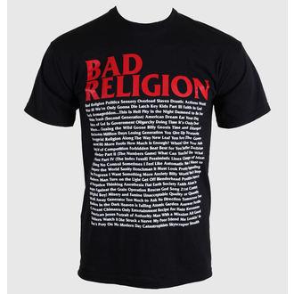 Metal majica moški Bad Religion - Song List - KINGS ROAD, KINGS ROAD, Bad Religion