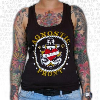 spodnja majica ženske Agnostic Front - Anchor - Črno - RAGEWEAR, RAGEWEAR, Agnostic Front
