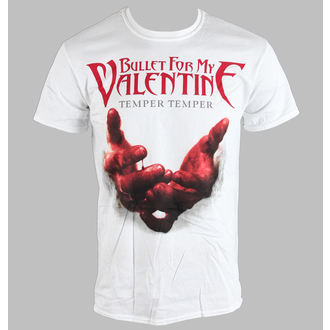 majica kovinski moški unisex Bullet For my Valentine - Temper Temper Blood Hands - BRAVADO EU, ROCK OFF, Bullet For my Valentine