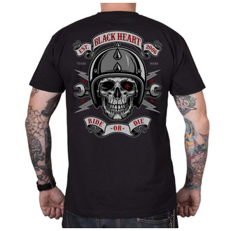 Moška ulična majica - RIDE OR DIE - BLACK HEART, BLACK HEART