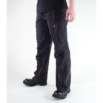 hlače moški MIL-TEC - Fliegerhose - Predpranje Črno, MIL-TEC