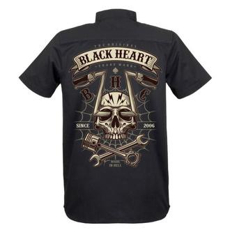 Moška srajca BLACK HEART - CHOPPER SKULL - ČRNA, BLACK HEART