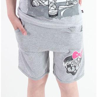 kratke hlače deviško Monster High - Siva, TV MANIA, Monster High