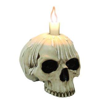 svečnik (dekoracija) Sveča lobanja w / o nižje čeljust