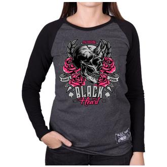 Ženska ulična majica - DEVIL ROSE - BLACK HEART, BLACK HEART