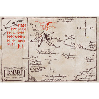 plakat The Hobit - Mountain Map, GB posters