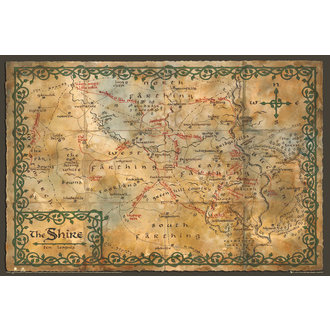 plakat The Hobit - Map of the Shire - GB posters, GB posters