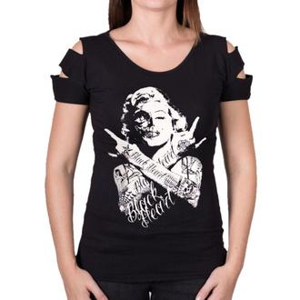Ženska ulična majica - SKULL BITCH DESTROY - BLACK HEART, BLACK HEART