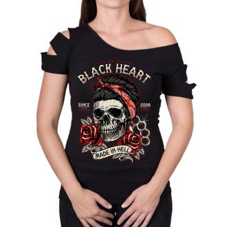 Ženska ulična majica - JENY DESTROY - BLACK HEART, BLACK HEART