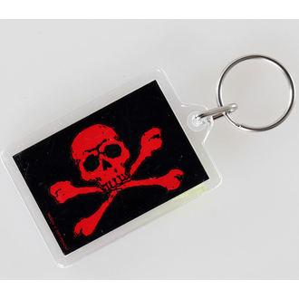 ključ prstan (obesek) Lobanja in Crossbones - Red - PYRAMID POSTERS, PYRAMID POSTERS
