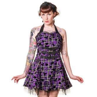 obleko ženske BANNED - Purple Tartan, BANNED