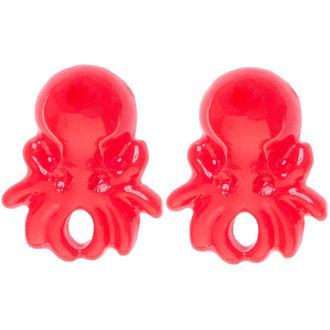 uhani SOURPUSS - Octopus - rdeča, SOURPUSS