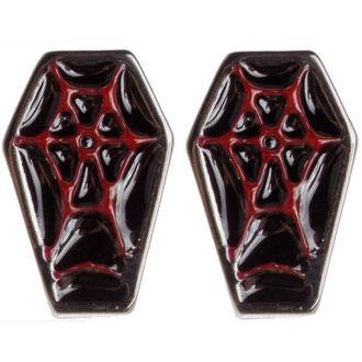 uhani SOURPUSS - Coffin - Črno / rdeča, SOURPUSS