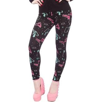 hlače (gleženj) ženske SOURPUSS - Ray Guns - Črno, SOURPUSS