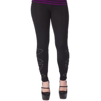 hlače (gleženj) ženske SOURPUSS - The Bats - Črno, SOURPUSS