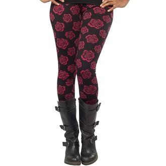 hlače (gleženj) ženske SOURPUSS - Omni Roses - Črno, SOURPUSS