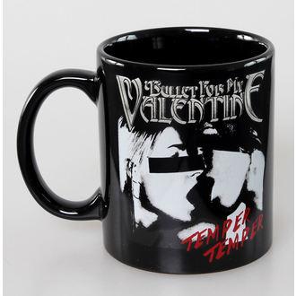 skodelica Bullet For My Valentine - Skull Red Eyes Črna - ROCK OFF, ROCK OFF, Bullet For my Valentine